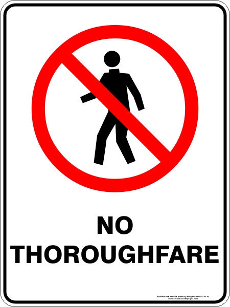 no thoroughfare  u2013 australian safety signs