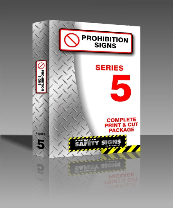 Series 5 - Prohibition Safety Signs Collection