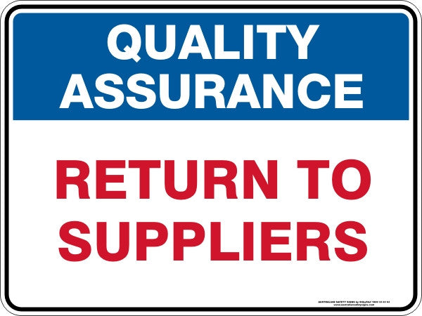RETURN TO SUPPLIERS