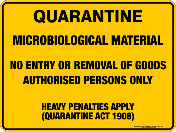 QUARANTINE - Microbiological Material QC2