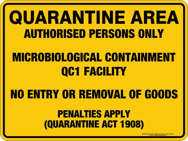 QUARANTINE AREA QC1