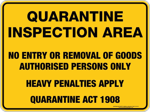 QUARANTINE INSPECTION AREA