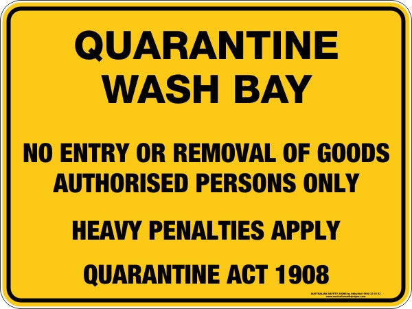 QUARANTINE WASH BAY