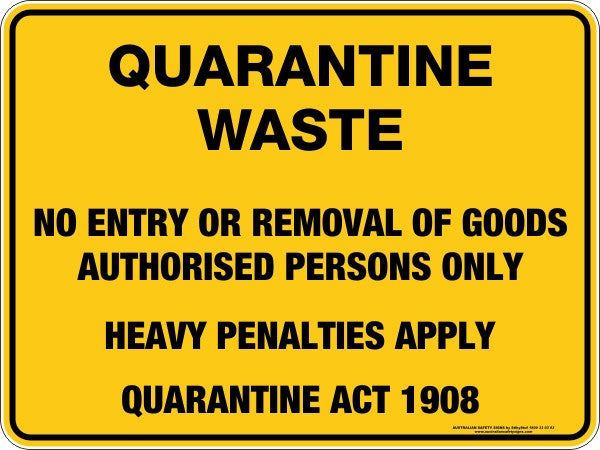 QUARANTINE WASTE