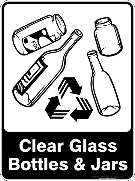 CLEAR GLASS BOTTLES & JARS