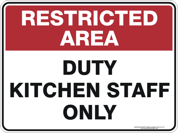 Sign boards restricting customers to enter the kitchen area in restaurants to be removed
