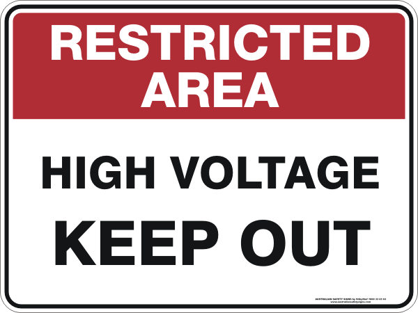 HIGH VOLTAGE KEEP OUT