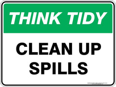 CLEAN UP SPILLS
