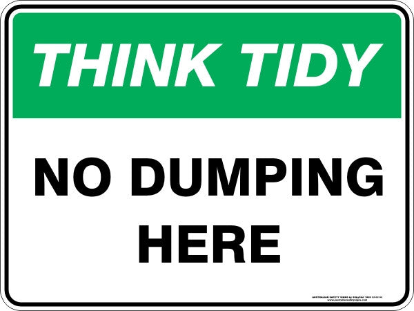 NO DUMPING HERE