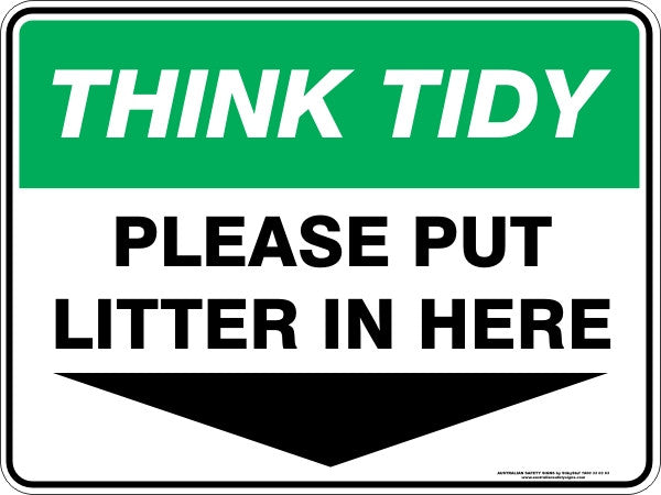 PLEASE PUT LITTER IN HERE