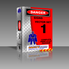 Series 1 - Danger Safety Signs Collection