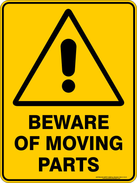 BEWARE OF MOVING PARTS
