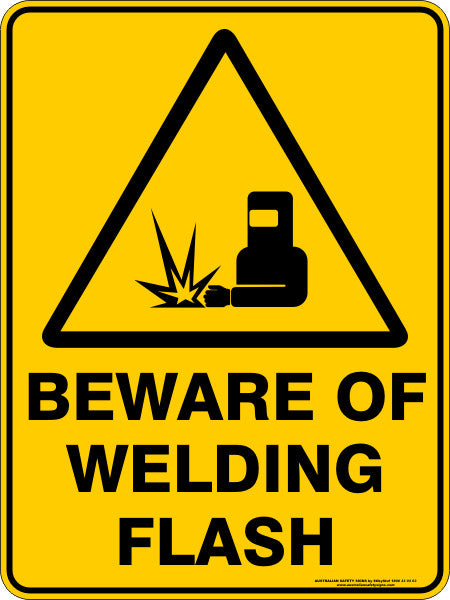 BEWARE OF WELDING FLASH