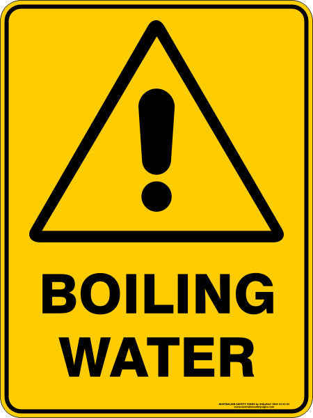 Boiling Water Australian Safety Signs