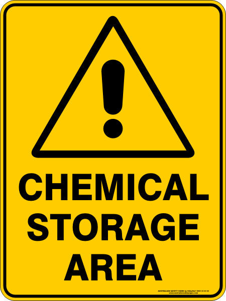 Chemical Storage Area Australian Safety Signs