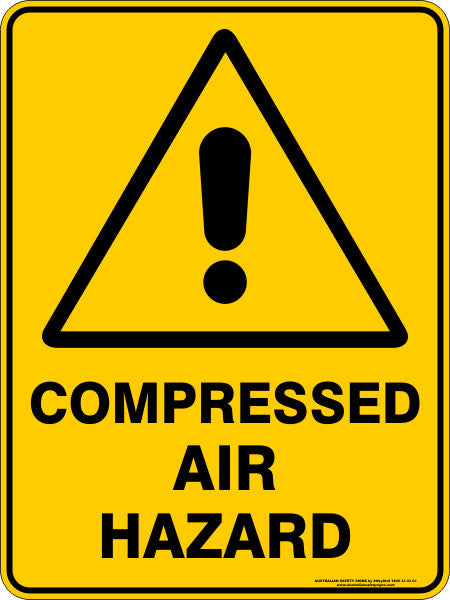 COMPRESSED AIR HAZARD