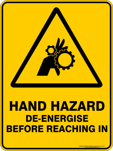 HAND HAZARD DE ENERGISE BEFORE REACHING IN