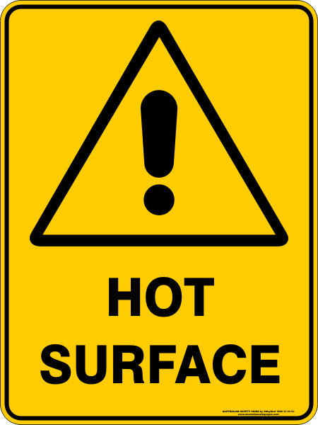 Hot Surface Australian Safety Signs