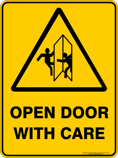 Caution Door Signs : Products australian safety signs