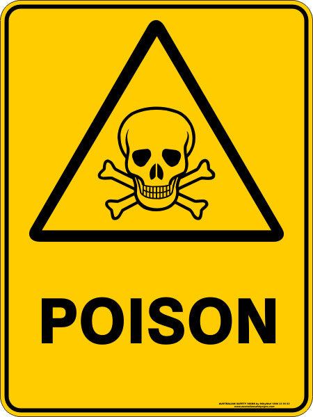 poison australian safety signs