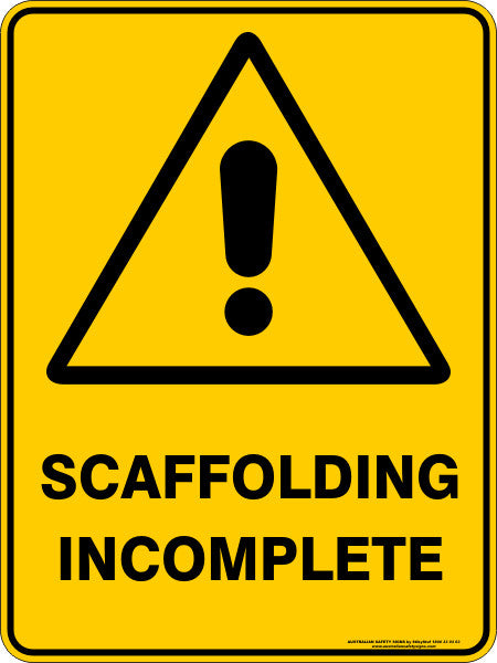 SCAFFOLDING INCOMPLETE