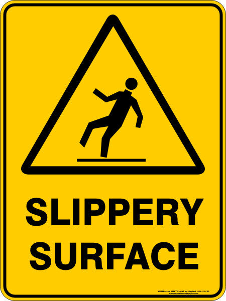 Slippery Surface Australian Safety Signs