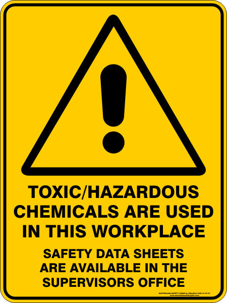 Toxic Hazardous Chemicals Are Used In This Workplace