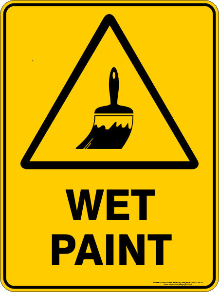 WET PAINT Australian Safety Signs