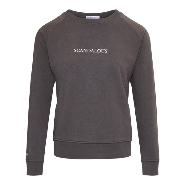 Scandalous Anthracite 'Proper' Sweatshirt Women Front