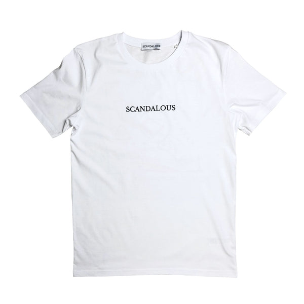 Scandalous White 'Double The Odds' T-Shirt Unisex