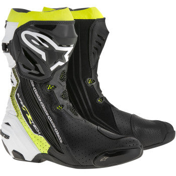 Alpinestars Supertech R Boots - Black/White/Yellow