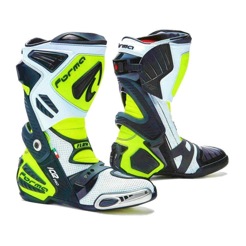 Forma Ice Pro-Flow Road Racing Boots - Neon/White