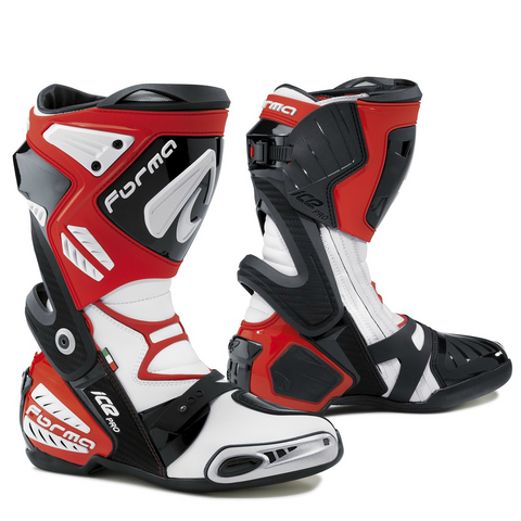 Forma Ice Pro Road Racing Boots - White / Red
