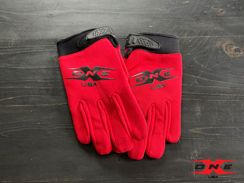 OneX USA Mechanic Paddock Gloves - Red