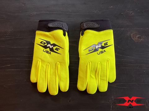 OneX USA Mechanic Paddock Gloves - Fluorescent Yellow