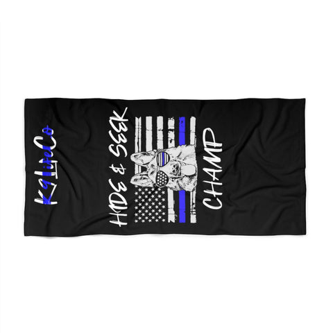 "K9LifeCo - ""Hide & Seek Champ - TBL"" - Beach Towel"