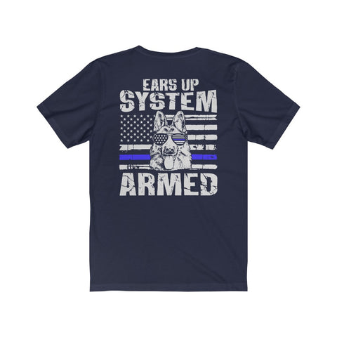 "Mens ""Ears Up System Armed"" tee"