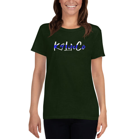"K9LifeCo - ""I Back The K9 - TBL"" - Large Logo Front - Women's short sleeve t-shirt"