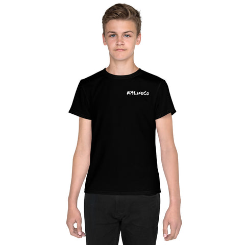 "K9LifeCo - ""Ears Up System Armed"" - Youth T-Shirt - Black"