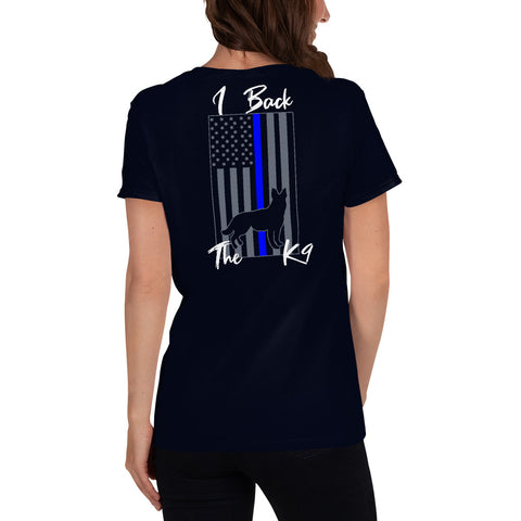 "K9LifeCo - ""I Back The K9 - TBL"" - Women's short sleeve t-shirt"