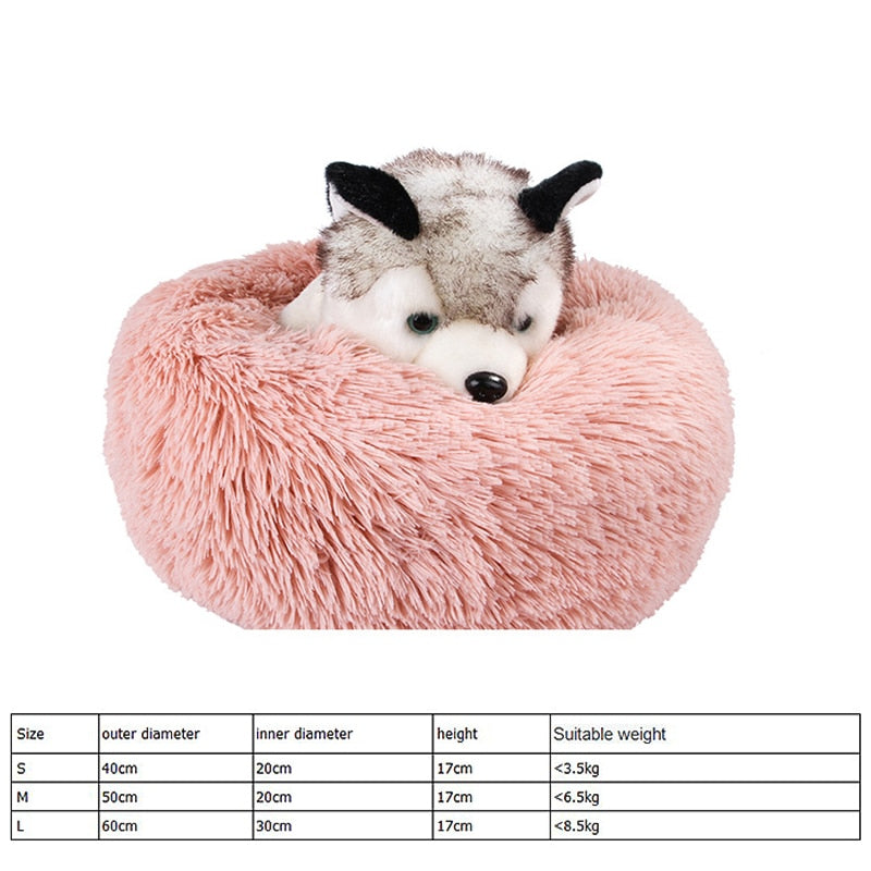 Pet Bed Puppy Dog Round Bed