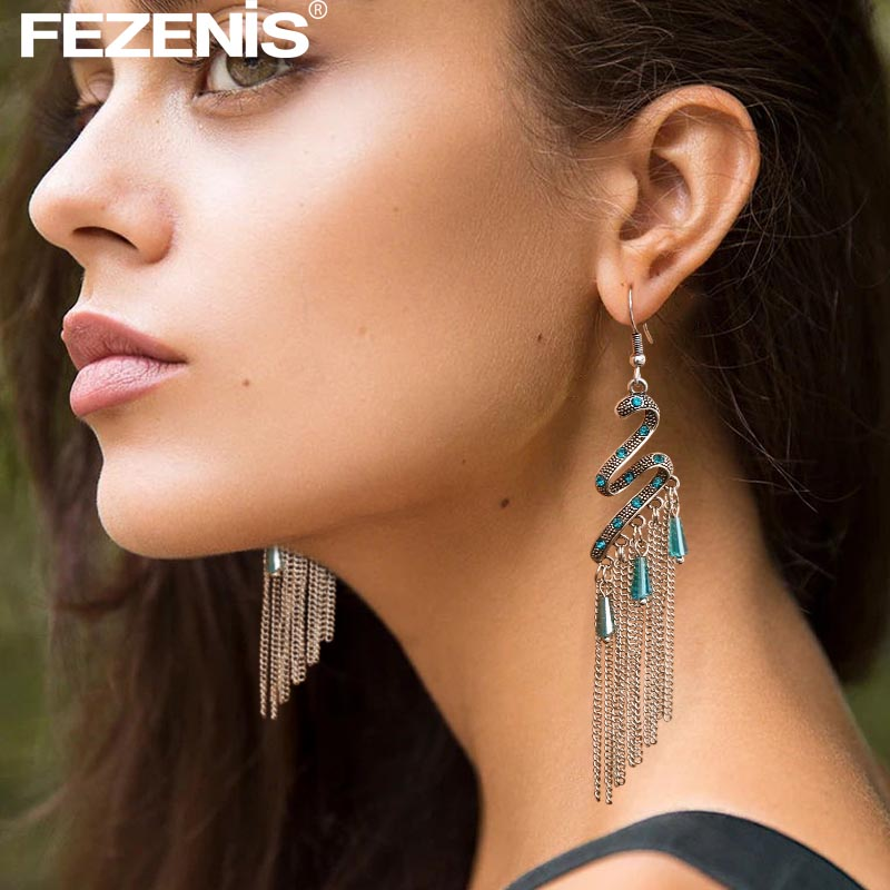 Ethnic Silver Hanging Dangle Earrings