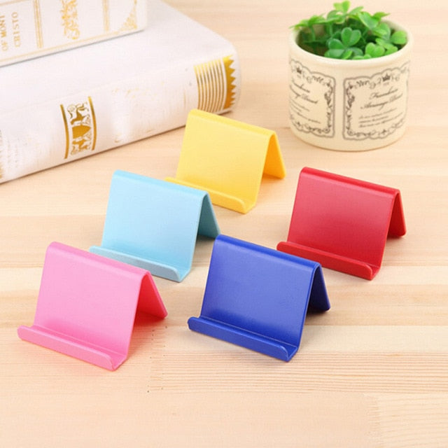 Plastic Desk Mount Candy Colors Fixed Holder