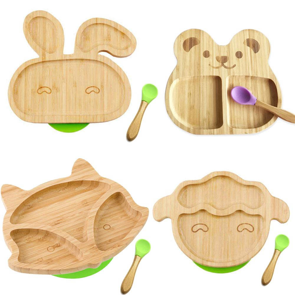 Dishes Plate Cartoon Rabbit Kids Feeding