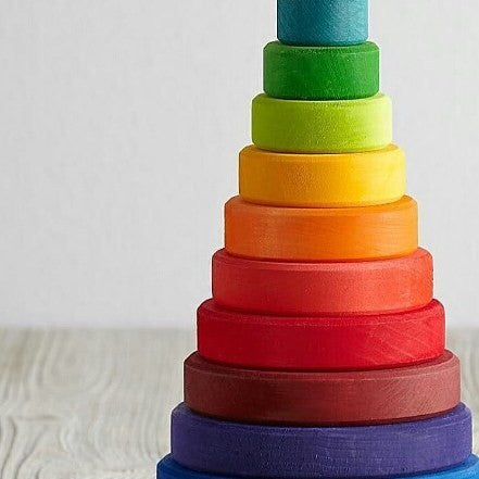 wooden stacking baby toy