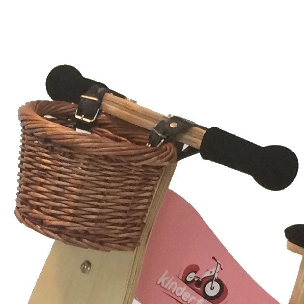Balance Bike Wicker Basket with leather straps - Earth Toys