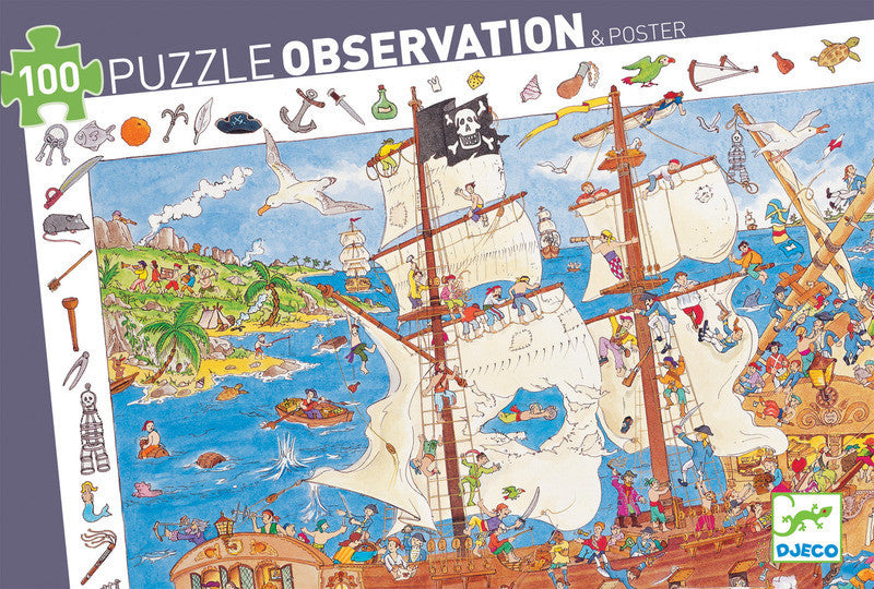 Puzzle Observation - Pirates 100pc Puzzle - Earth Toys - 1