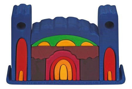 Wooden Handcrafted 3D Castle Puzzle - Earth Toys