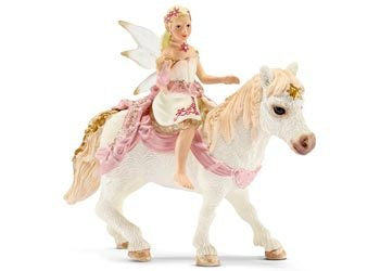 Schleich - Delicate Lily Elf Riding a Pony - Earth Toys