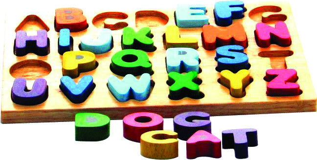 Upper Case Wooden Alphabet Puzzle - Earth Toys